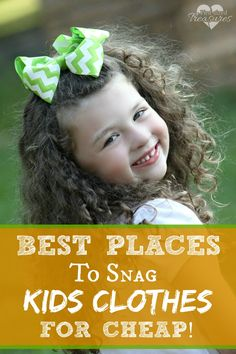 Moms are ALWAYS buying clothes for kids --it's just a fact of life! Find out the best places to snag your kiddos quality, comfy and stylish clothing for cheap!