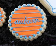 Auburn Football Cookies College Football  by 4theloveofcookies