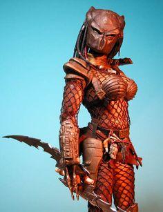 Risultati immagini per she predator costume diy Alien Vs Predator, Predator Cosplay, Predator Costume, Predator Alien, Aliens Colonial Marines, Alien Girl, Best Cosplay, Top Cosplay, Awesome Cosplay