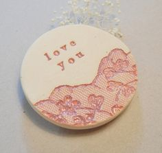 Love You Magnet Pottery Gift Mother Gift by TheKindestWord on Etsy
