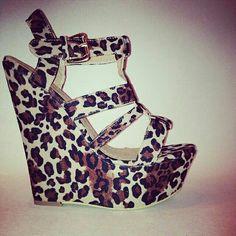 Leopard Wedge ♥ leopard wedges, cheetah wedg