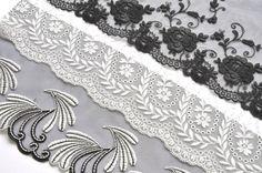 Black and White Designer Lace Grab Bag Lace by VintageToLiveBy