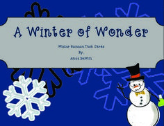 This is a set of 5 task cards centering around a winter/holiday theme. The materials that are required are: Insta-Snow, variety of animal books, clear plastic cups, small candy canes, a variety of pine cones, cooking oil, cinnamon, soap, and water. This is a great way to let your students have a little fun while using the science process skills as well!