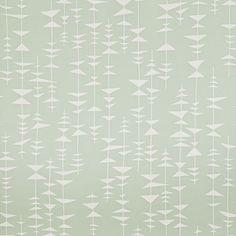 """Mild pastell grön med vita trianglar på tråd""""Ditto"""""""