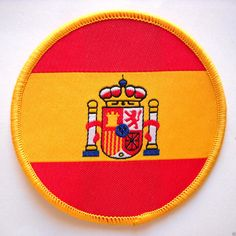 (http://www.spanishdoor.com/spain-national-flag-embroidered-iron-sew-on-parche-spanish-cloth-badge-patch-new/) #SpainCountryFlagPatch