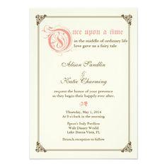 Storybook Fairytale Wedding Invitation - Pink