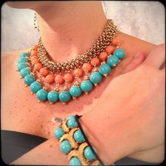 turquoise big necklace