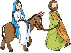Flanelplaat Jozef en Maria / Maria, Josef og Jesus På rejse og ophold i Bethlehem