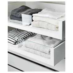 KOMPLEMENT Drawer with glass front IKEA Limited Warranty. Read about the terms in the Limited Warranty brochure. Ikea Bedroom, Closet Bedroom, Bedroom Storage, Ikea Closet Hack, Closet Hacks, Ikea Pax Hack, Best Closet Organization, Ikea Hacks, Home Organization