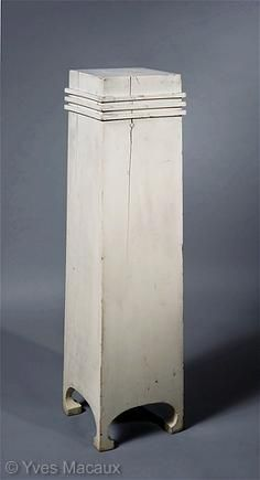 Josef Hoffmann  Pedestal    For the five first exhibitions of the Viennese Secession    1898  White painted soft wood  H. 117,5 platform 25 x 25 cm