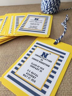 Do you need a cute bag for your Commissioning Week guests? These cotton canvas bags are ideal as gift bags, favor bags, USNA graduation bags and