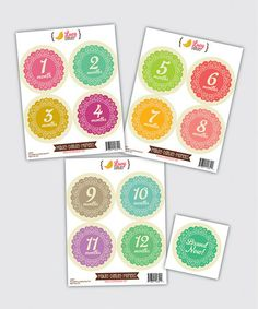 Another great find on #zulily! Doily Baby Girl Month Sticker Set by Lucy Darling #zulilyfinds