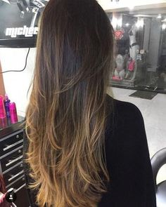 170 ombre hair color ideas for blonde brown black balayage hair – page 1 Ombre Hair Color For Brunettes, Brunette Color, Face Shape Hairstyles, Straight Hairstyles, Cool Hairstyles, Cabelo Ombre Hair, Balayage Hair, Black Balayage, Ash Blonde Hair