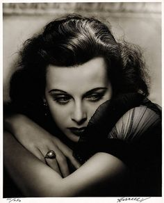 Hedy Lamarr, by George Hurrell, king of the classic Hollywood portrait photographers.
