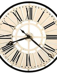 Add a vintage touch to your home's decor with the Oversized Pierre Wall Clock by Howard Miller that's as beautiful as it is functional.