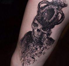 Skull Tattoo crow
