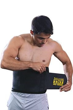 de8b18774e0 TNT Pro Series Waist Trimmer Weight Loss Ab Belt Premium Stomach Wrap and Waist  Trainer 9 W x 34 L Small -- Click on the image for additional details.