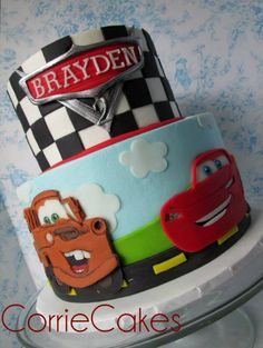 47 Super Ideas Cars Cake For Boys Birthday Car Themed Parties, Cars Birthday Parties, Cool Birthday Cakes, Birthday Cake Toppers, Boy Birthday, Disney Cars Cake, Disney Cars Birthday, Disney Cars Party, Disney Cakes