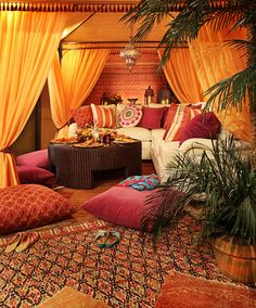 """""""Making Merry in Marrakesh"""" was the theme of this vignette created for the Ghiordes Knot Showroom by Urso Designs, Inc. for the Michigan Design Center's """"""""Celebrations 2012"""""""" Event. """""""