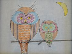nursery owls   Dexter and his Mummy