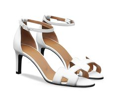 aef0accba6b1 Première 70 Calfskin sandals with palladium-plated Eperon buckle