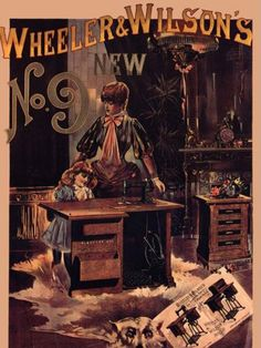 Vintage Sewing Machine Posters