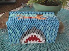 Jaws Shark Theme Perler Bead Box