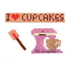 I love Cupcakes hama beads by piligonzalez.hamabeads
