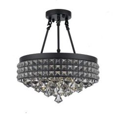 Shop for Semi Flush Mount French Empire Crystal Chandelier Crystal Iron Metal Shade. Get free delivery On EVERYTHING* Overstock - Your Online Ceiling Lighting Store! Ceiling Fixtures, Metal Shades, Light, Hanging Crystals, Chandelier Shades, Crystal Chandelier, Chandelier, Energy Efficient Bulbs, Ceiling Lights