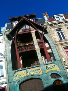 Maison Art Nouveau   #Lille  #art_nouveau  Photo Denis VERBEKE Art Nouveau Architecture, Architecture Design, Colorful Houses, Inspirational Pics, Examples Of Art, Academic Art, Art Nouveau Design, Name Art, Architectural Features