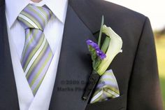 lavender and sage groomsmen | the white shirt/tie/vest for the groom, so Sean wore a striped purple ...