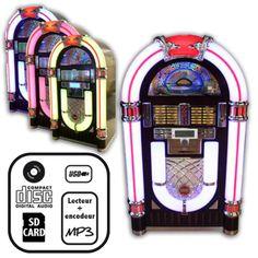 Jukebox américain vintage : décoration US 50's et 60's