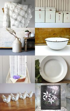 Farmhouse White Decor from EPSTEAM by Anne on Etsy--Pinned with TreasuryPin.com