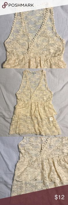Lacey sheer top! Lacey sheer top! Charlotte Russe Tops