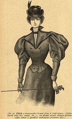 Strój do konnej jazdy, 1896   Riding dress, 1896
