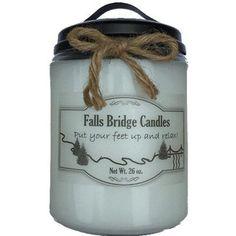 "FallsBridgeCandles Harvest Berry Jar Candle Size: 6.5"" H x 4"" W x 4"" D"