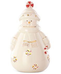 Light Up Snowman Figurine Collectible Figurines - Macy's Lenox Christmas, Christmas Cookie Jars, Christmas Dishes, Holiday Cookies, Christmas Snowman, Christmas Gifts, Christmas China, Christmas Decorations, Santa Figurines
