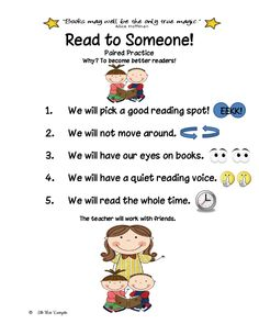 Classroom Freebies Too: Read to Someone!