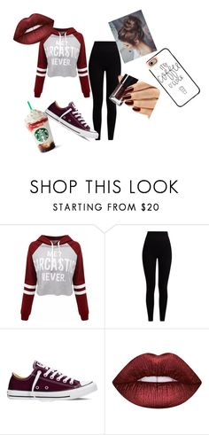 """So Me!"" by bracie-jaycie-brady on Polyvore featuring WithChic, Pepper & Mayne, Converse, Lime Crime, Casetify, love and BeYou"
