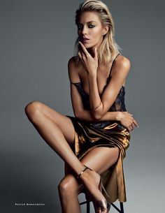 Anja Rubik by Patrick Demarchelier for Vogue Russia March 2014 | The Fashionography