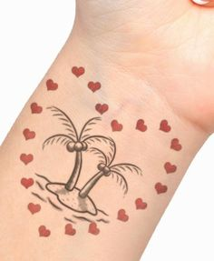 Amazing Palm Tree Tattoo Designs to Express Your Deep-rooted Self Beachy Tattoos, Palm Tattoos, New Tattoos, I Tattoo, Tree Tattoo Designs, Tattoo Designs And Meanings, Meaning Of Palm, Miniature Palm Trees, Tropical Tattoo