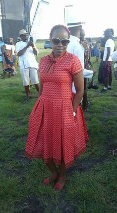 South African Shweshwe Fabric Dresses Pictures 2019 - fashionist now Sotho Traditional Dresses, Traditional Dresses Designs, African Traditional Dresses, Traditional Fashion, Traditional Wedding, African Print Dresses, African Fashion Dresses, African Dress, Dress Fashion