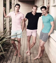 Men's wardrobe is virtually incomplete without stylish polo shirts. The best thing about these shirts is you can wear it for casual functions, sports functions and for formal too. Most commonly these shirts are worn for casual look. Summer Wear, Summer Outfits, Summer Shorts, Casual Summer, Uk Summer, Summer Fashions, Summer Winter, Short Outfits, Swim Shorts