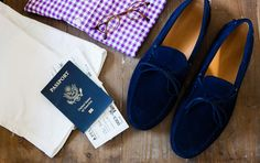 The stylish traveler. #CobblerUnion  The Barcelona Royal Blue #drivers by Cobbler Union