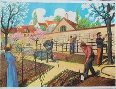 """Affiche """"Le jardinage"""" (Leçons de choses Mdi)"""