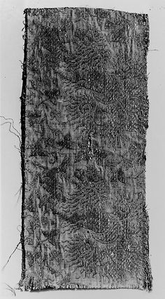 Textile with Lions, Gazelles and Foliage, 14th century Italian, metal threads on silk.