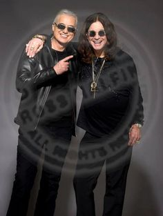 Jimmy Page of Led Zeppelin with Ozzy