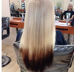 Reverse ombre ---- one day....I will have
