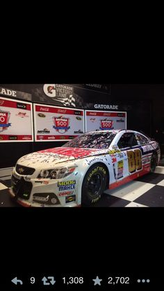 Jr's winning car Daytona 500, Dale Earnhardt Jr, Nascar, Chevy, Automobile, Racing, Facts, Awesome, Sports