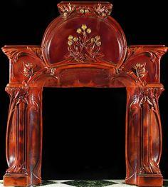 Art Nouveau fire place.